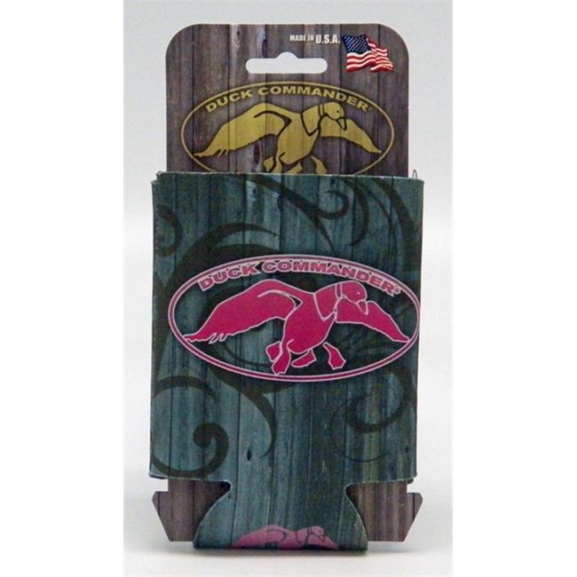 Duck Commander DC-CC-TP Can cooler  Tribal Barnwood & Pink Logo
