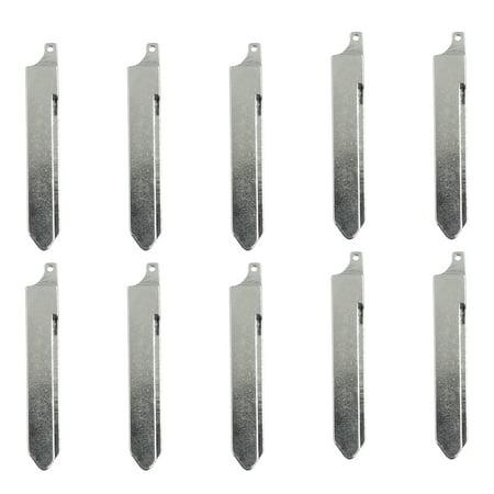 10pcs Uncut Car Flip Remote Folding Key Blank Blade for Buick Park Avenue