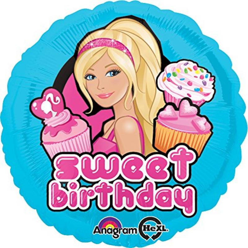 "Anagram International Barbie Happy Birthday Foil Balloon Pack, 18"", Multicolor"