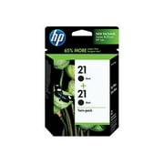 HP 21 Black Original Ink Cartridge, 2-Pack (C9508FN)