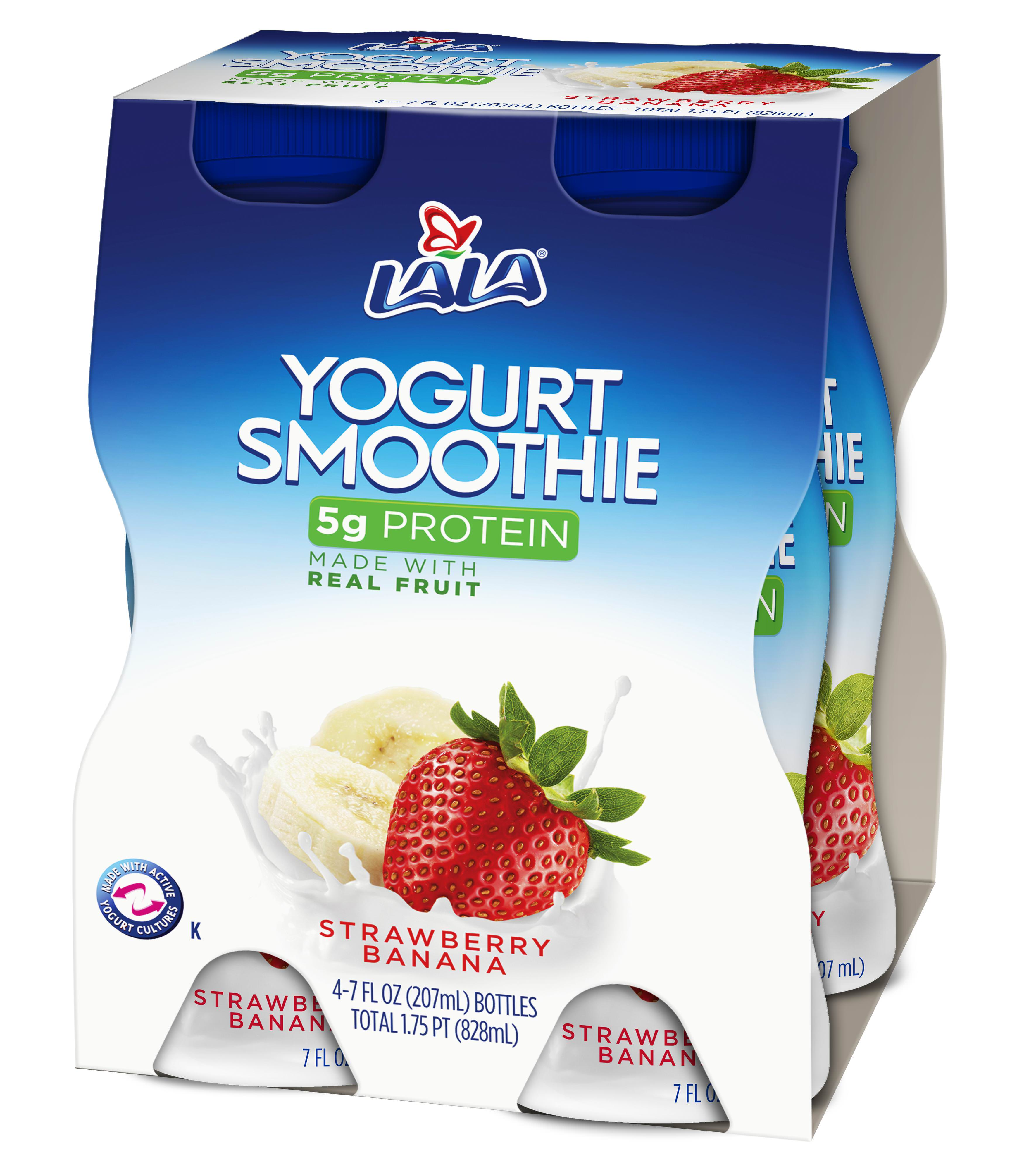 LALA Drinkable Yogurt, Strawberry Banana, 7 Oz., 4 Count