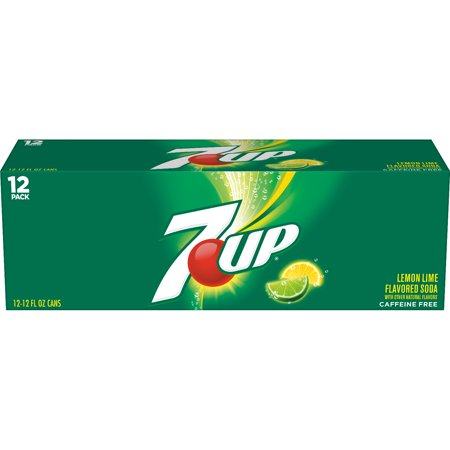 (2 Pack) 7UP, 12 Fl Oz Cans, 12 Ct