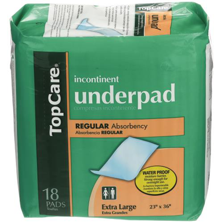 Top Care Extra Large Underpads - 18 pads
