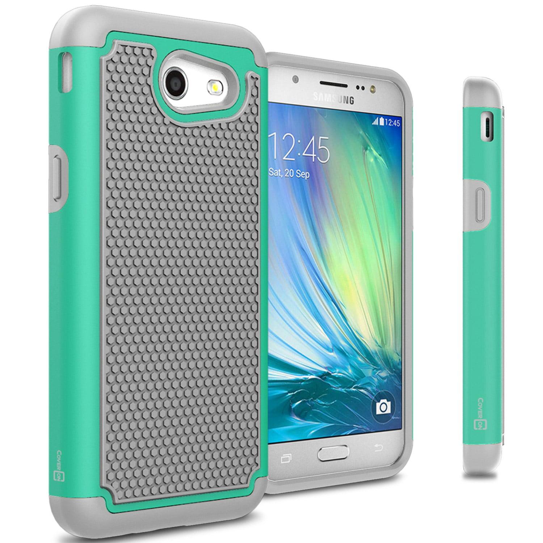 premium selection b0977 9c60e CoverON Samsung Galaxy Express Prime 2 / Sol 2 / J3 Eclipse / J3 Luna Pro  Case, HexaGuard Series Hard Phone Cover