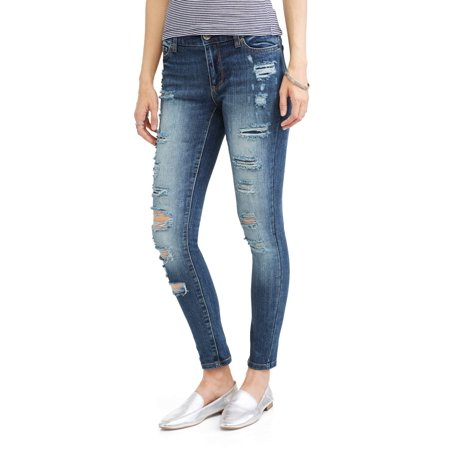 Women's plus size 20 unique pair of jeans because of the style it gives off a kind of cowgirl look very cute American Eagle Womens Skinny Jegging Jeans Size 6 Stretch Bleached Denim er $