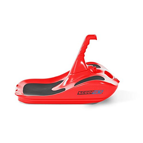 ScoopJet Flow Carver Ergonomic Race & Fun Minibob (Red) Snow Sled for adults by Scoopjet