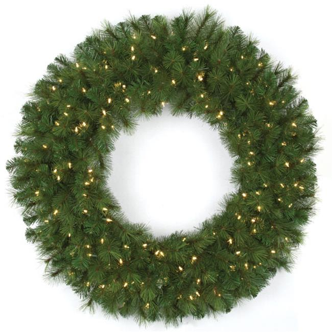 Autograph Foliages C-140614 48 in. Pvc Mika Wreath, Green