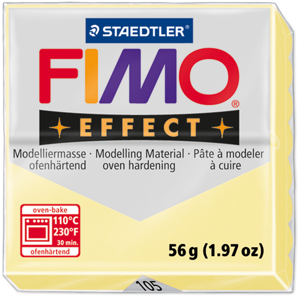FREE 1ST CLASS POST-Pick from 24 cols 1 Block FIMO EFFECTS SOFT Polymer Clay