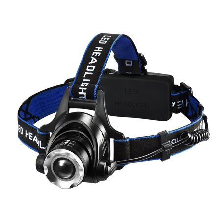 Headlamps, LED Headlight with 1600 Lumens Brightness, Four Lighting Modes, 90°Adjustable Headband, IP45 Waterproof Design,for Camping, Hiking, Fishing, Hunting