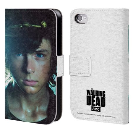 OFFICIAL AMC THE WALKING DEAD CHARACTERS LEATHER BOOK WALLET CASE COVER FOR APPLE IPHONE PHONES