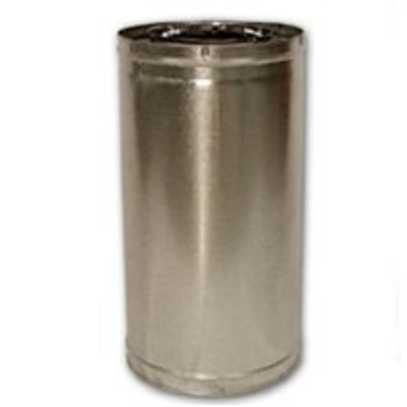Pp Chmny 8In 24In Snp Lck Stl FMI PRODUCTS, LLC Insulated Chimney Pipe 24-8DM