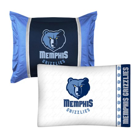 NBA Grizzlies Pillow Sham Pillowcase Set Basketball Bedding