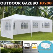 Zimtown 10'X30' Outdoor Canopy Party Wedding Tent Garden Tent Gazebo Pavilion Cater Event