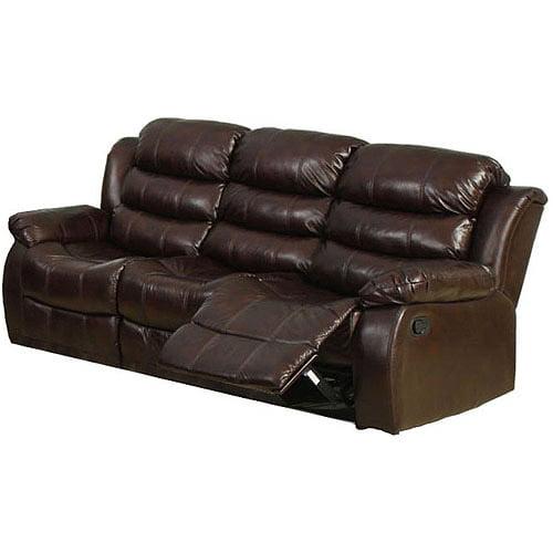 Berkshire Reclining Sofa, Dark Brown