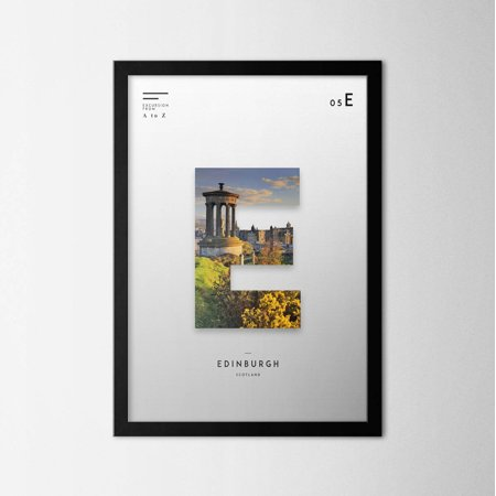 Home Depot Edinburg (LaModaHome Edinburg Poster Print, Framed or Unframed Poster Print, Cities, Affiche, Plakat, Wall Art, Art Print, Wall Decor, A to Z City Posters Print [21x30 cm |)