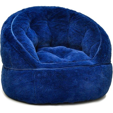 Urban Shop Faux Fur Kids Size Bean Bag Chair, Multiple Colors