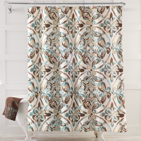 Better homes gardens bhg medallion fabric shower curtain Better homes and gardens curtains