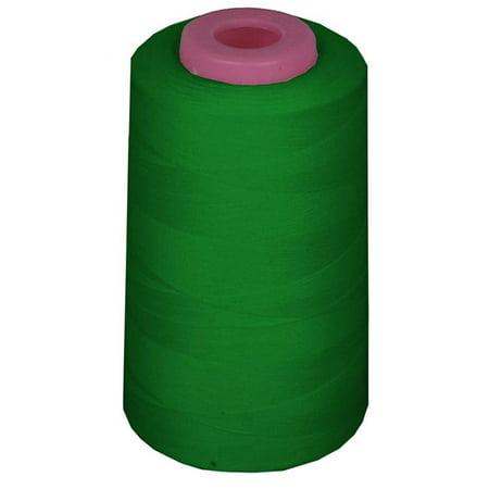 LA Linen ThreadGreenA394 6000 Yards 100 Percent Polyester Cone Serger Thread, Emerald Green - A394