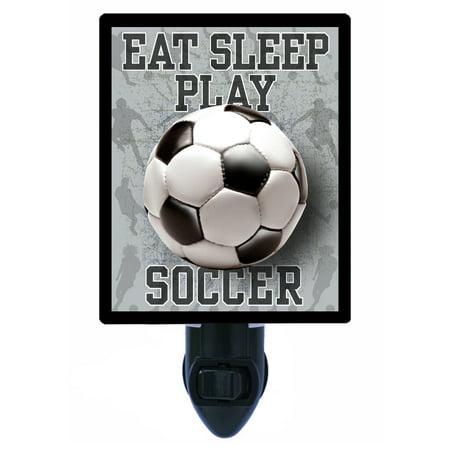 Night Light - Photo Light - Eat, Sleep, Play Soccer - Sports