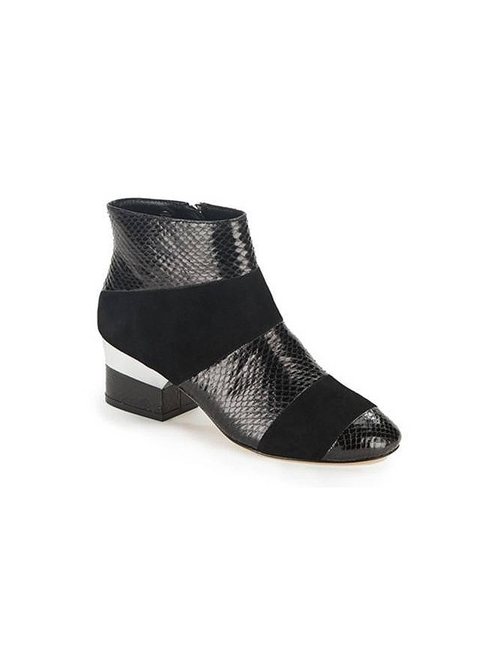Isa Tapia Women's Hardy S Snakeskin Low Block Heel Ankle Boots