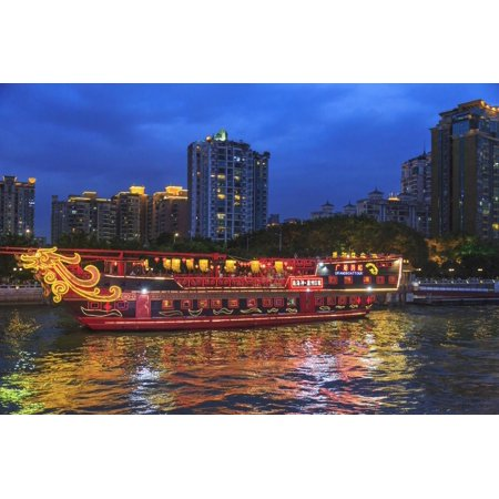 Cruise Dimmer Switch (Dinner Cruise Along Pearl River Enjoying Guangzhou Skyline, China Print Wall Art By Stuart Westmorland)