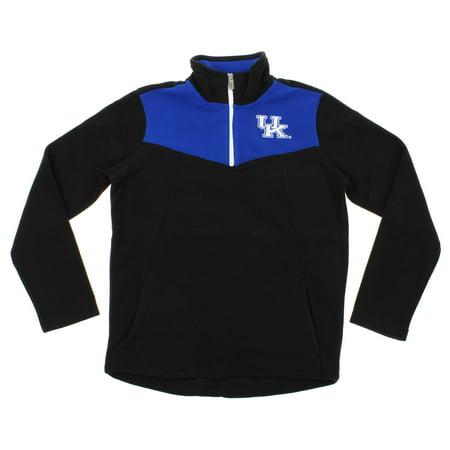 NCAA Youth Kentucky Wildcats Break Point 1/4 Zip Pullover Sweater, Black