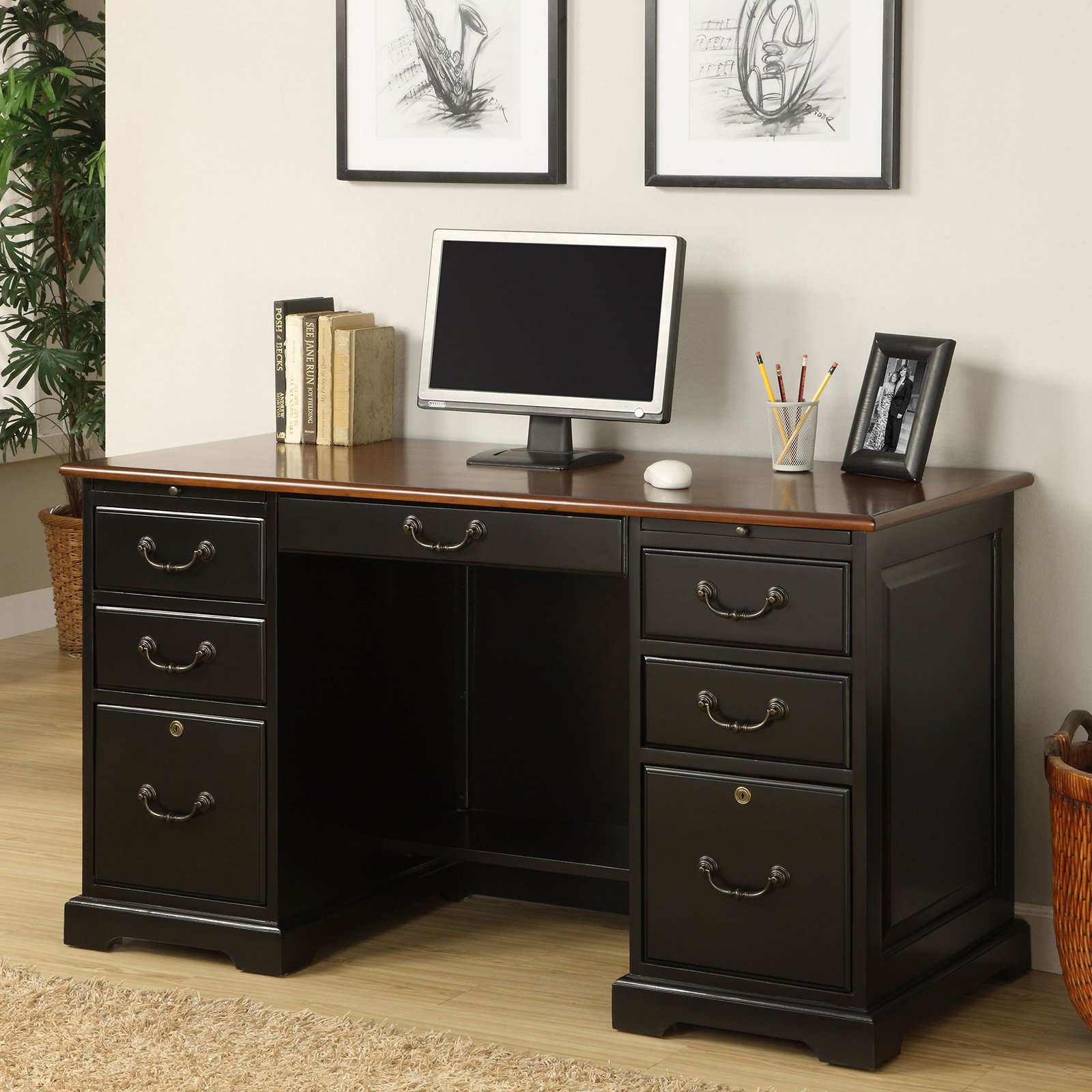 Flat Top Computer Desk Com