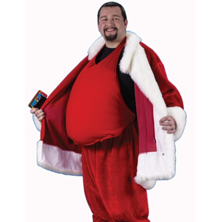 Padded Santa Belly Santa Claus Costume Accessory - Adult One Size