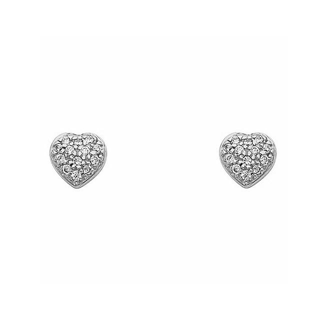7853757e5 Precious Stars Jewelry 14K Yellow Gold Cubic Zirconia Heart-shaped Stud  Earrings