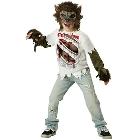 Werewolf Child Halloween Costume, X-Large (12-14) - Ware Wolf Costume