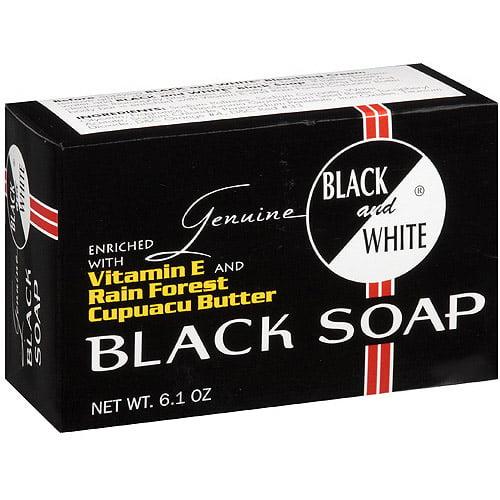 Genuine Black & White Black Soap, 6.1 oz
