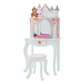 Wildkin Princess Vanity Table Chair Set Light Pink Walmart Com Walmart Com