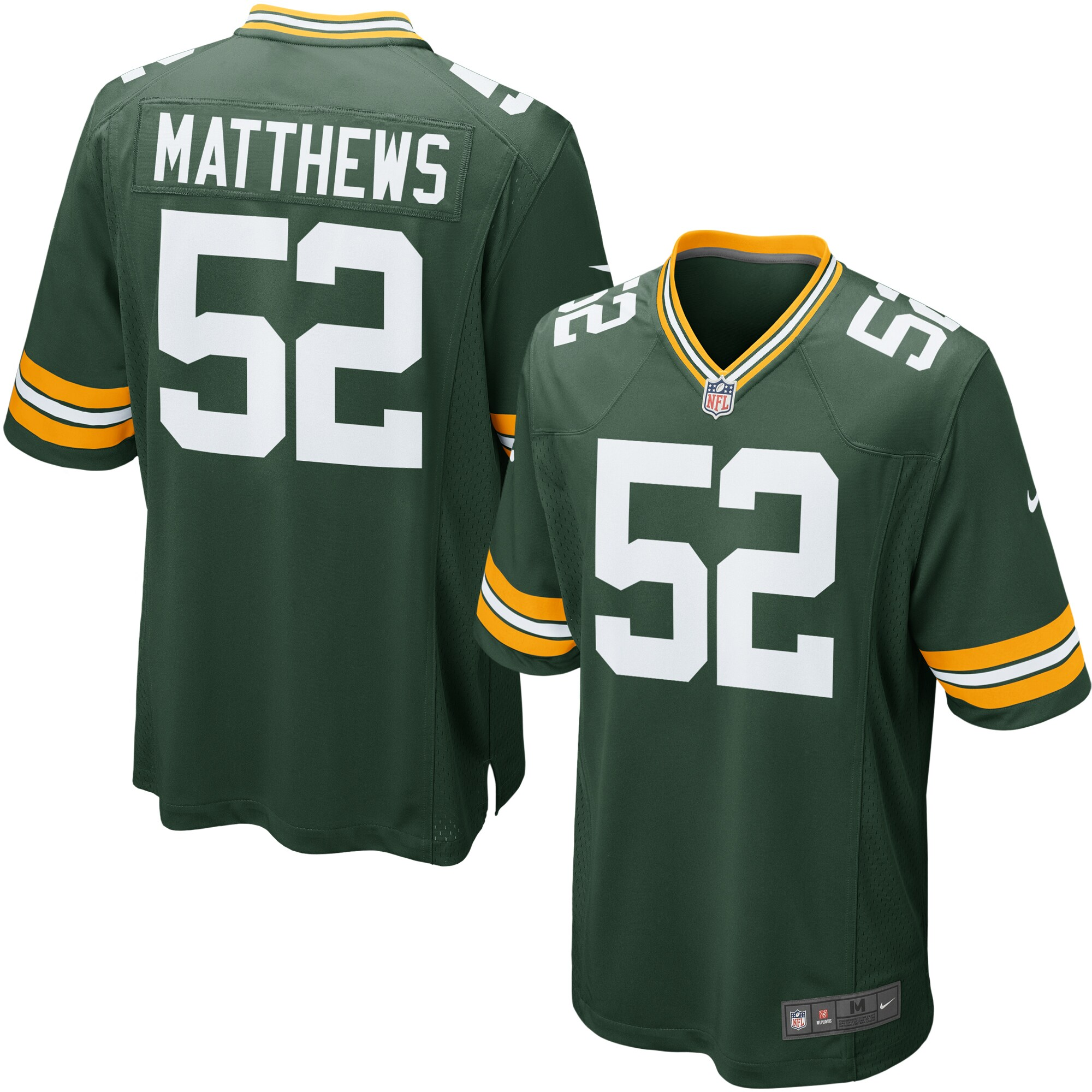 Clay Matthews Green Bay Packers Nike Youth Team Color Game Jersey - Green