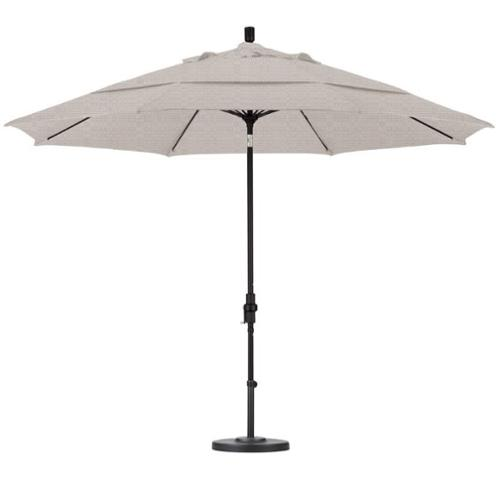 California Umbrella 11' Market Patio Umbrella in Woven Granite