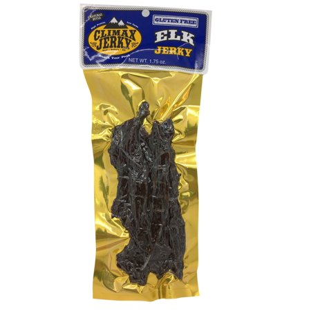 BEST Premium Natural Style GLUTEN FREE Thick Strips 1.75 OZ. Elk Jerky - No Preservatives - High Protein - Low Carbs - Buy Multiple Packs & Save! (Elk Gluten Free, 1 Pack) Elk Gluten