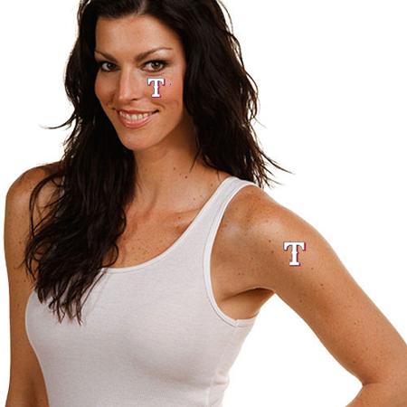 Texas Rangers 4-Pack Temporary Tattoos - No - Ranger Tattoo