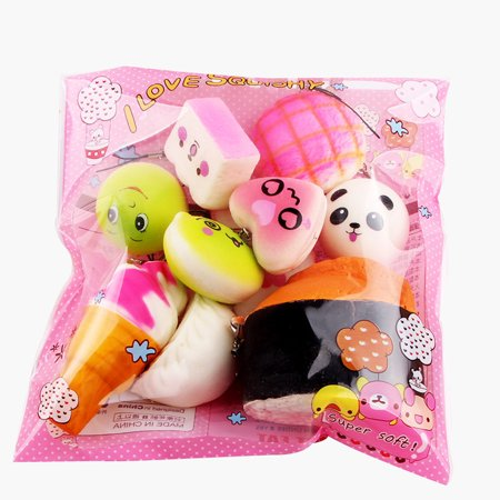 Mosunx 15pcs Squeeze Medium Mini Soft Squishy Bread Toys - Squeeze Toys