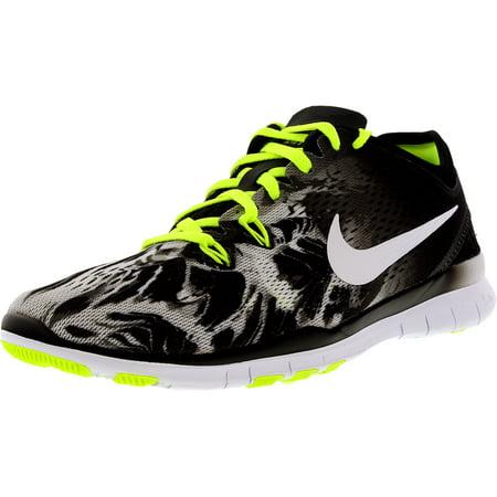 5c93a577339 Nike - Nike Women s Free 5.0 Tr Fit 5 Prt Black White Volt Ankle-High Cross Trainer  Shoe - 5M - Walmart.com