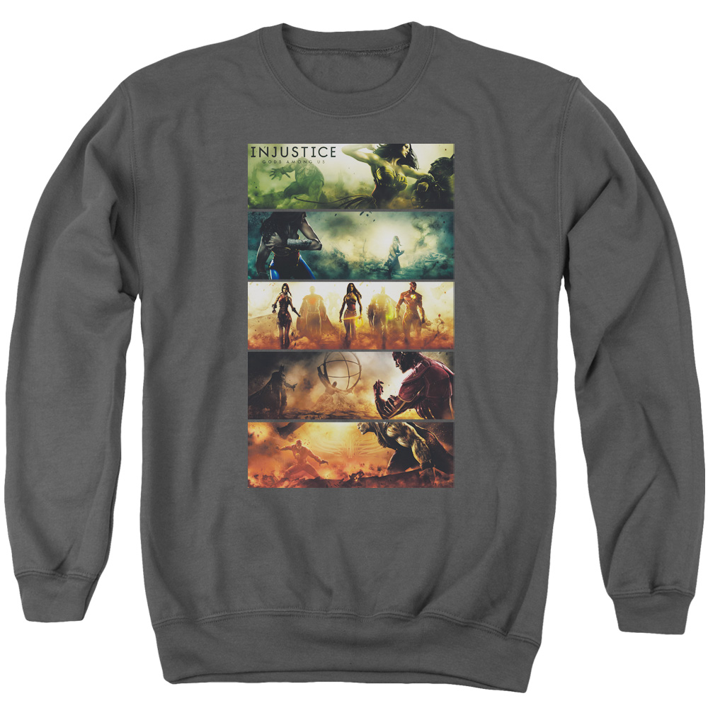 Injustice Gods Among Us Panels Mens Crewneck Sweatshirt
