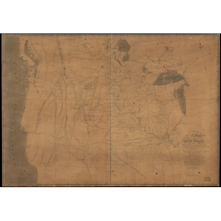 24x36 A map of part of the continent of North America : between the 35th and 51st degrees of north latitude, and extending from 89â° degrees of west longitude to the Pacific (Reading Latitude And Longitude On A Map)
