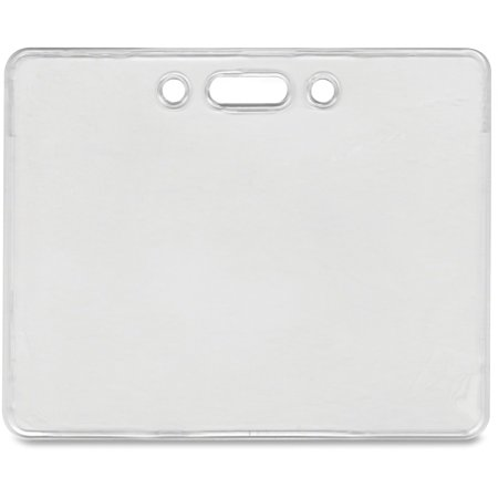 Advantus Proximity ID Badge Holder, Horizontal, 3 3/8w x 2 3/8h, Clear, 50/Pack