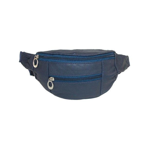 Size  one size Kids' Leather 3 Zippers Small Waist Pack