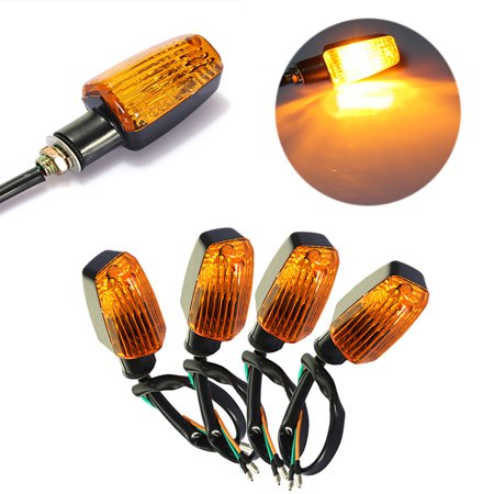 4x Universal Motorcycle Motorbike Turn Signal Indicator Turning Light Lamp Bulb Amber -