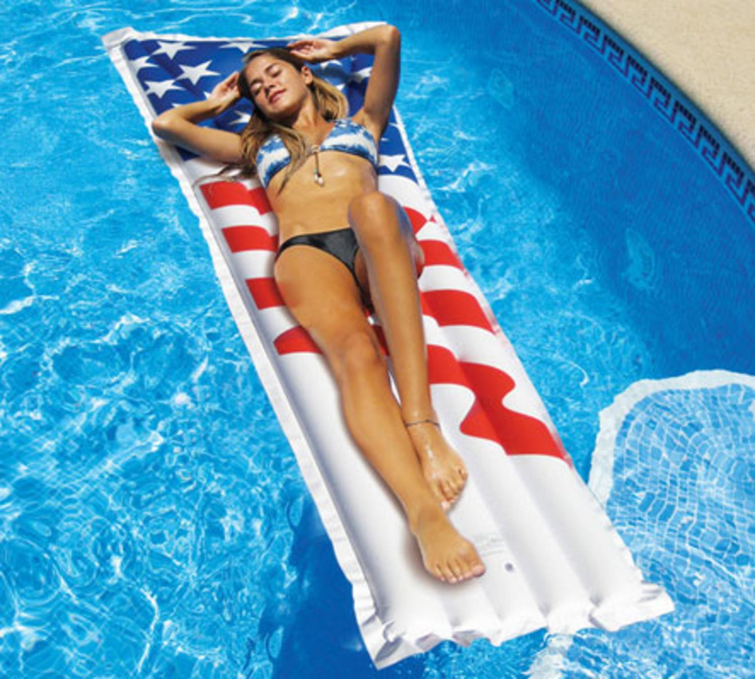"78"" Water Sports Inflatable Americana American Flag Swimming Pool"