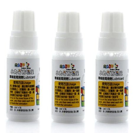 3x Maru Lube 10 Ml Silicone Oil for Puzzle Cube 3x3x3 4x4x4 5x5x5 6x6x6  7x7x7