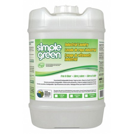 Simple Green Laundry Detergent, 5 gal. Pail, Unscented Liquid, 1