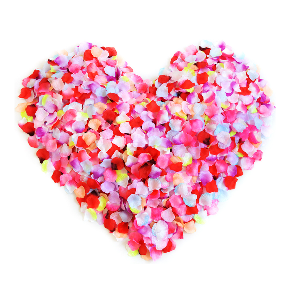 Aspire 4000 Pieces Silk Rose Petals, Artificial Flower Confetti, Wedding / Party / Gift Decoration-Assorted