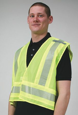 Condor 4CWE7 M Lime Polyester Safety Vest by Condor