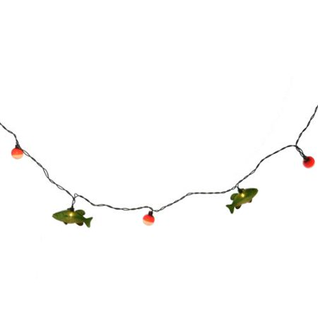 10 count string of fish christmas lights green wire for Fish string lights