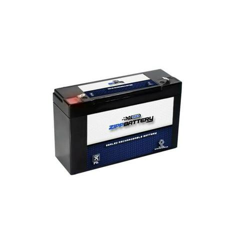 6V 12AH 72W Sealed Lead Acid (SLA) Battery - T1 Terminals by Zipp Battery